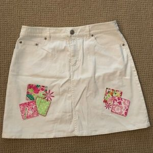 Vintage Lilly Pulitzer Kids Jean Skirt
